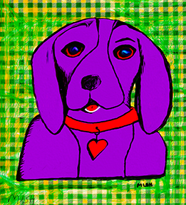 Purple dog #2
